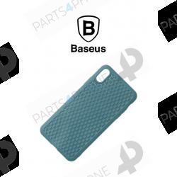 Coques et étuis-iPhone XS Max (A2101), coque Baseus Anti-Impact et Ultra Slim effet tissé-