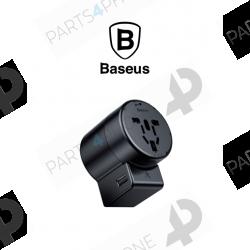Autres accessoires-Adaptateur rotatif Baseus (UK,CHN,Europe,USA) avec 2 ports USB-